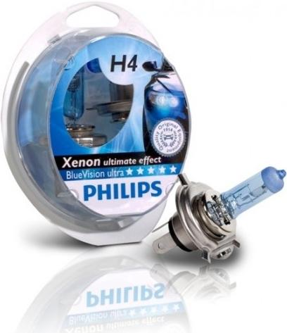 philips bluevision ultra h4 12342bvusm 60 55w 12v. Black Bedroom Furniture Sets. Home Design Ideas
